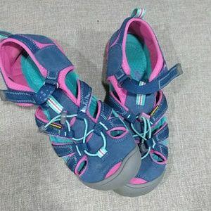 KEEN  pink/blue woman sandals size 6